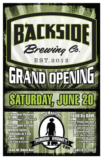 Backside Brewing Grand Opening