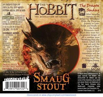 Smaug Stout label