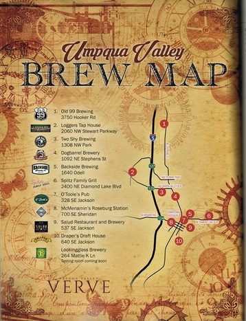 Roseburg Beer Map