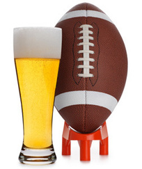 Glass of Beer and Football