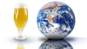 Glass of Beer and Globe