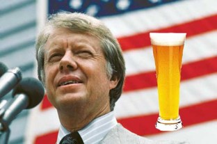Jimmy Carter and beer